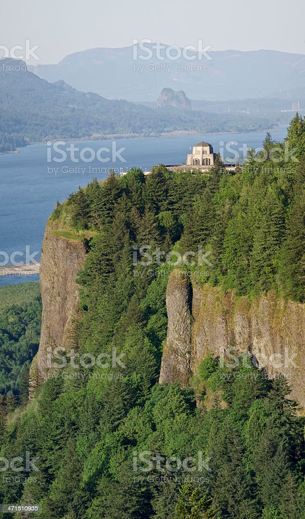 Crown Point Columbia River Oregon Panoramic Vertical royalty-free stock photo