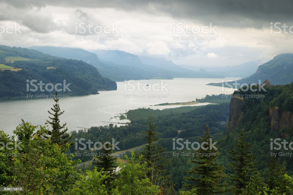 Crown point from the women's forum, Oregon. stock photo