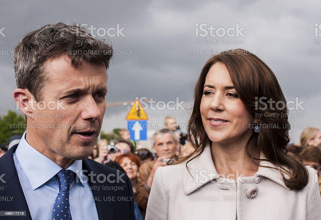 Crown Prince Couple of Denmark visit Poland stock photo
