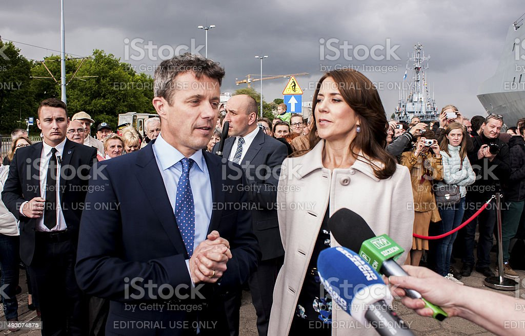 Crown Prince Frederik of Denmark and Princess Mary stock photo