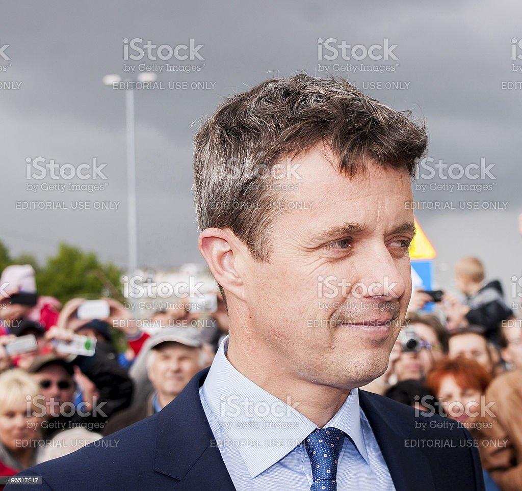 Crown Prince Frederik of Denmark visit Poland stock photo