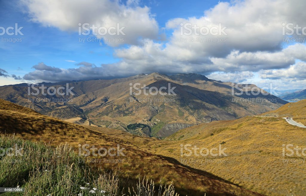Crown Range summit stock photo