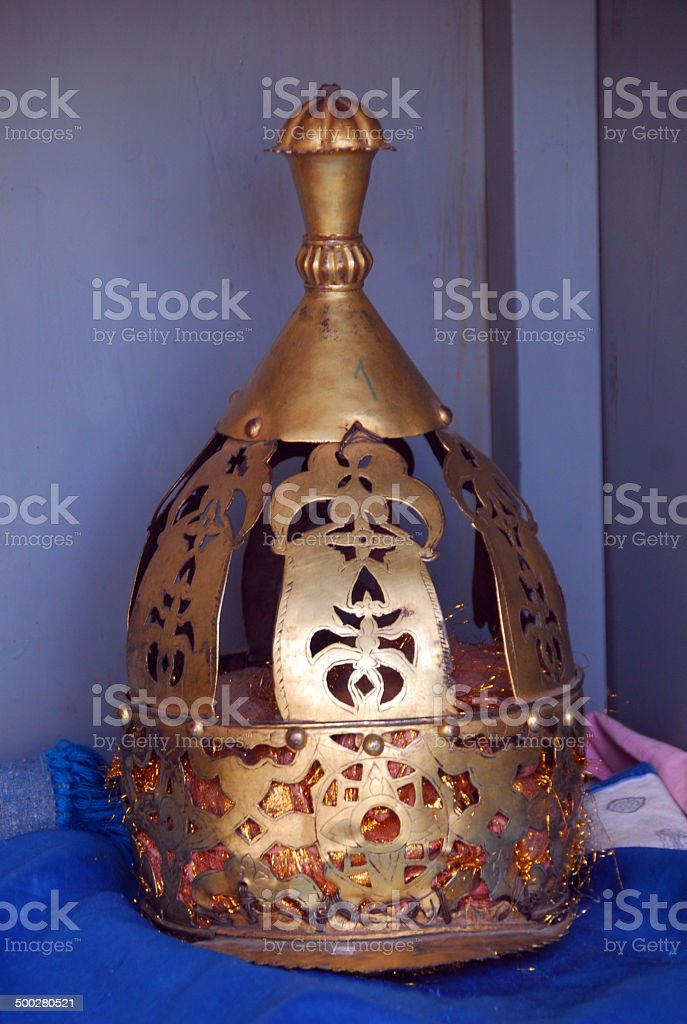 crown worn by Axum's kings, Ethiopia stock photo