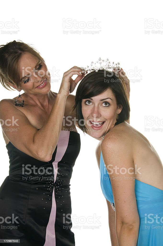 Crowning the winner royalty-free stock photo