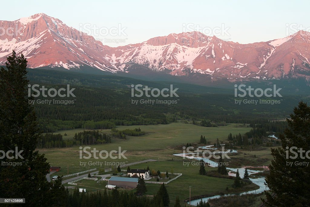 Crowsness Pass Municipality, Looking West stock photo