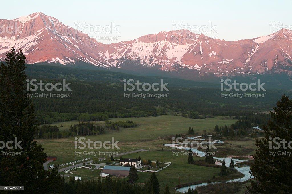 Crowsness Pass Municipality, Looking West stock photo