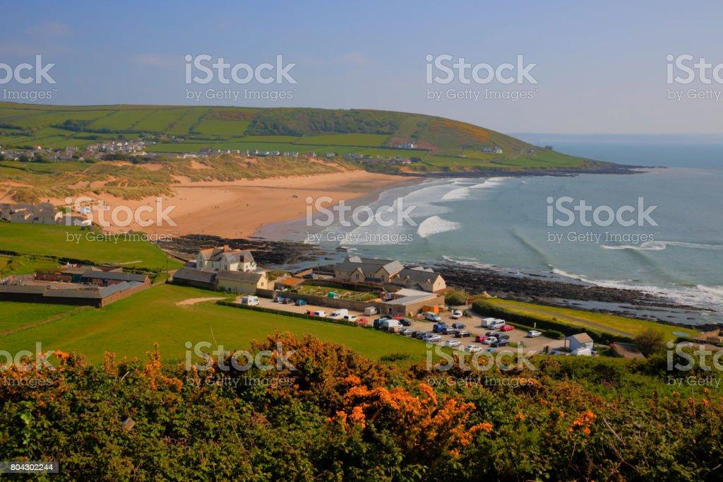 Croyde beach Devon England UK stock photo