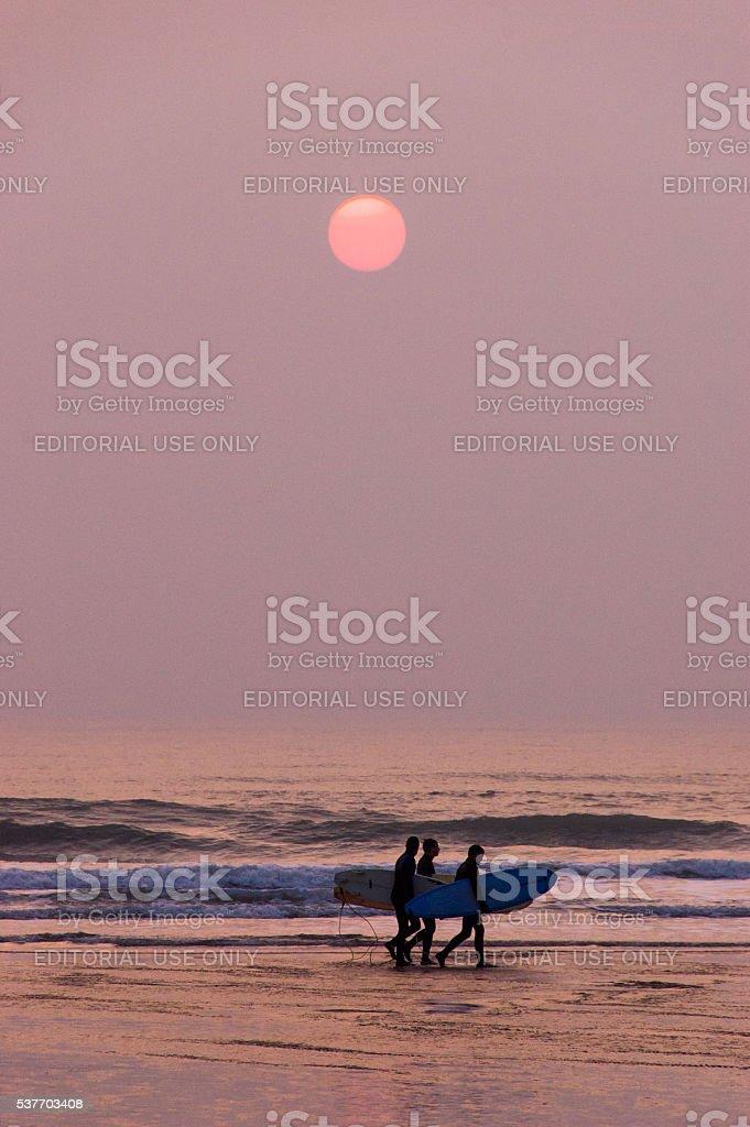 Croyde Sands stock photo