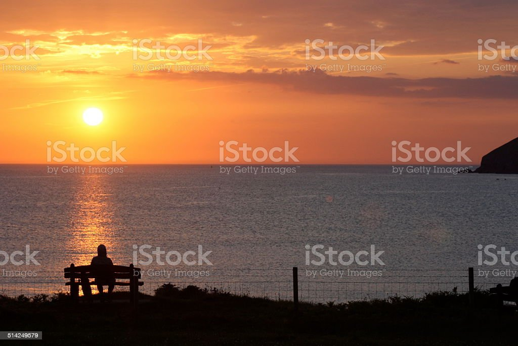 Croyde Sunset stock photo