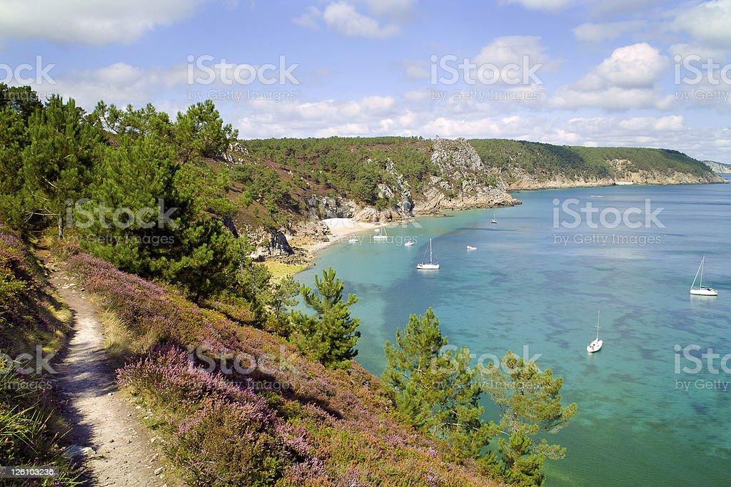 crozon morgat in brittany stock photo