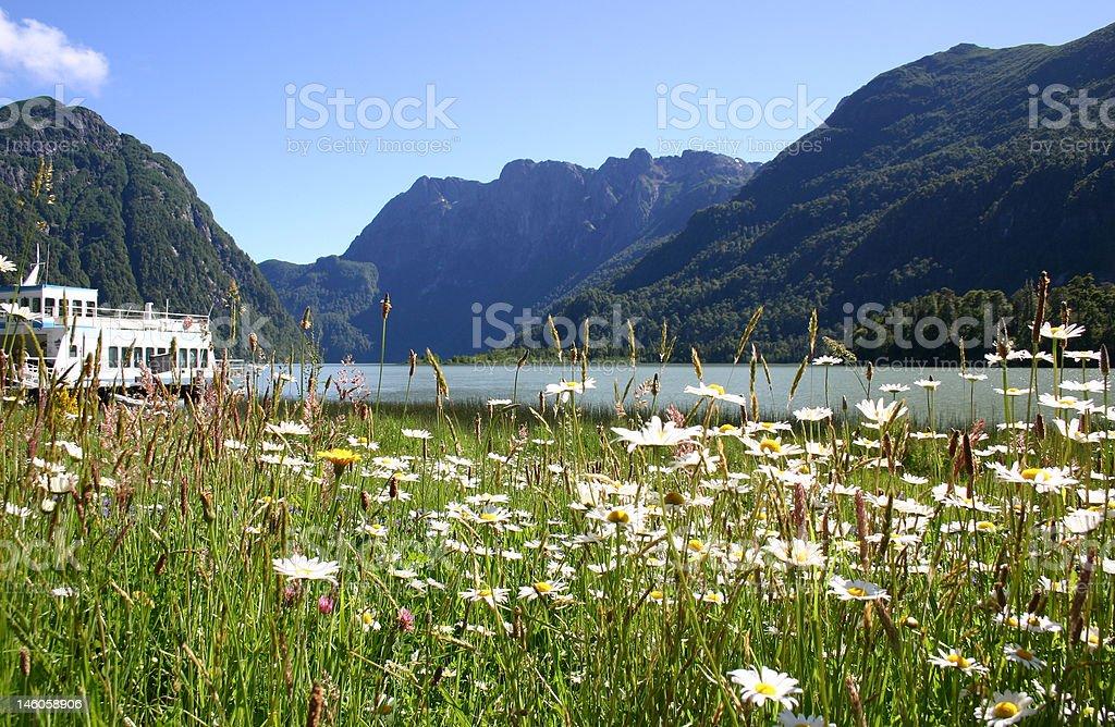 Cruce de lagos royalty-free stock photo
