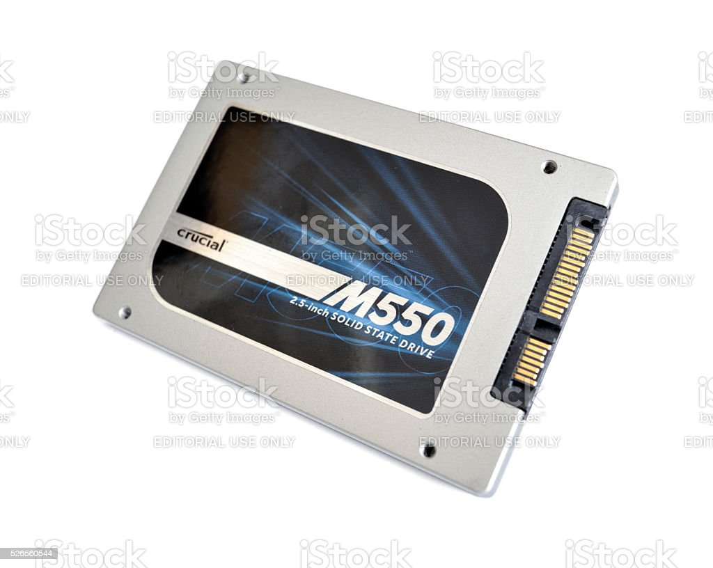 Crucial 1TB M550 2.5' Solid State Drive (CT1024M550SSD1) stock photo