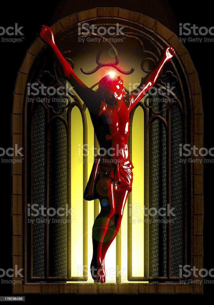 Crucified jesus royalty-free stock photo