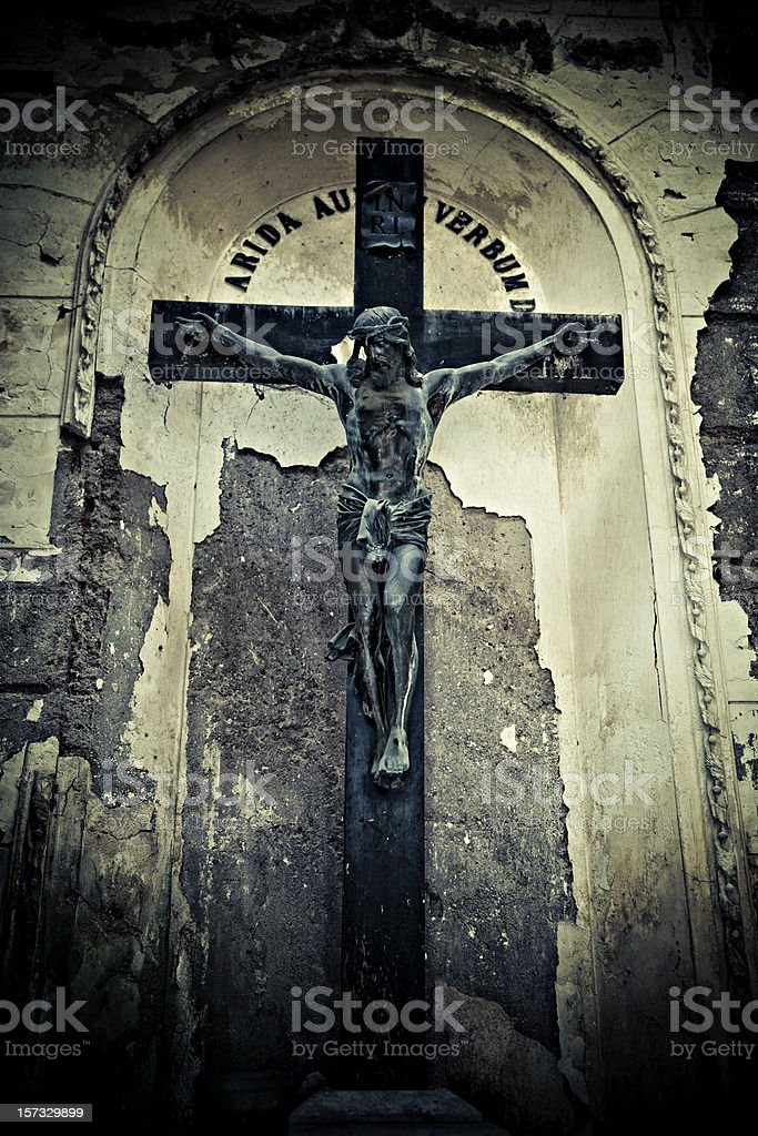crucified royalty-free stock photo