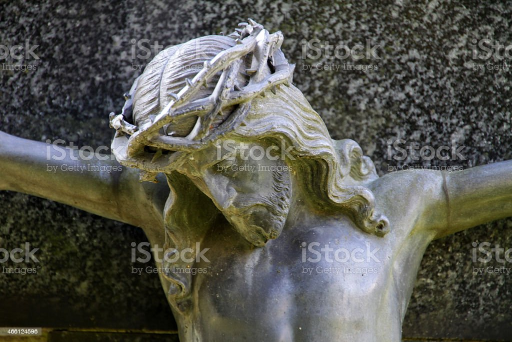 Crucified stock photo