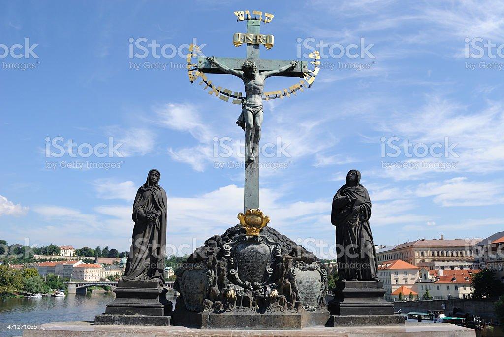Crucifix and Calvary stock photo