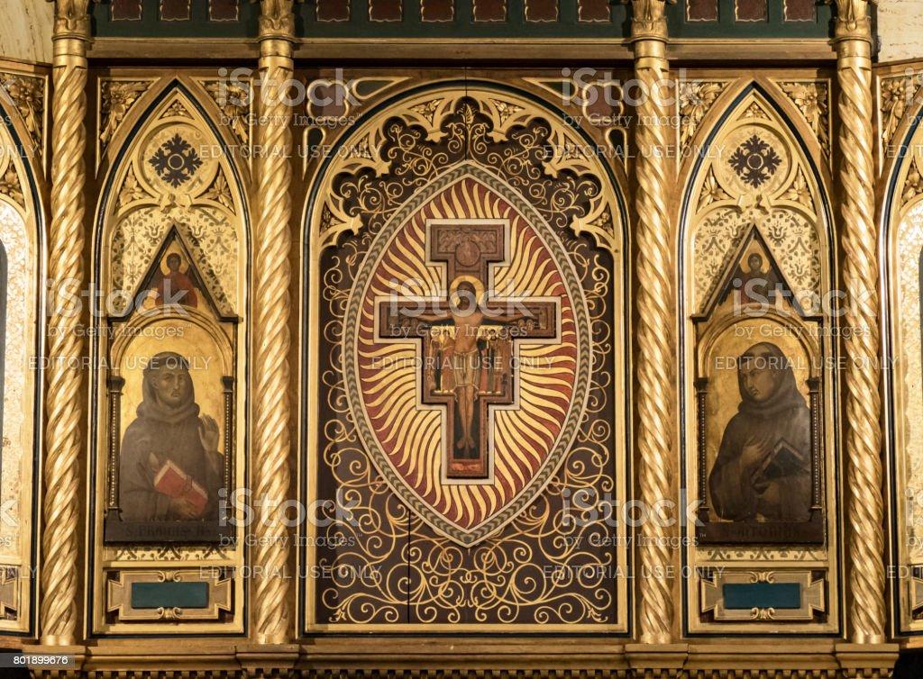 Crucifix and Saints stock photo