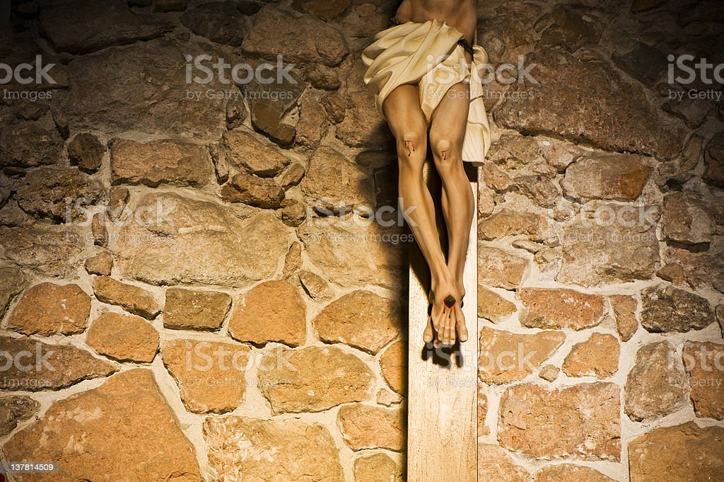Crucifix. Color Image stock photo