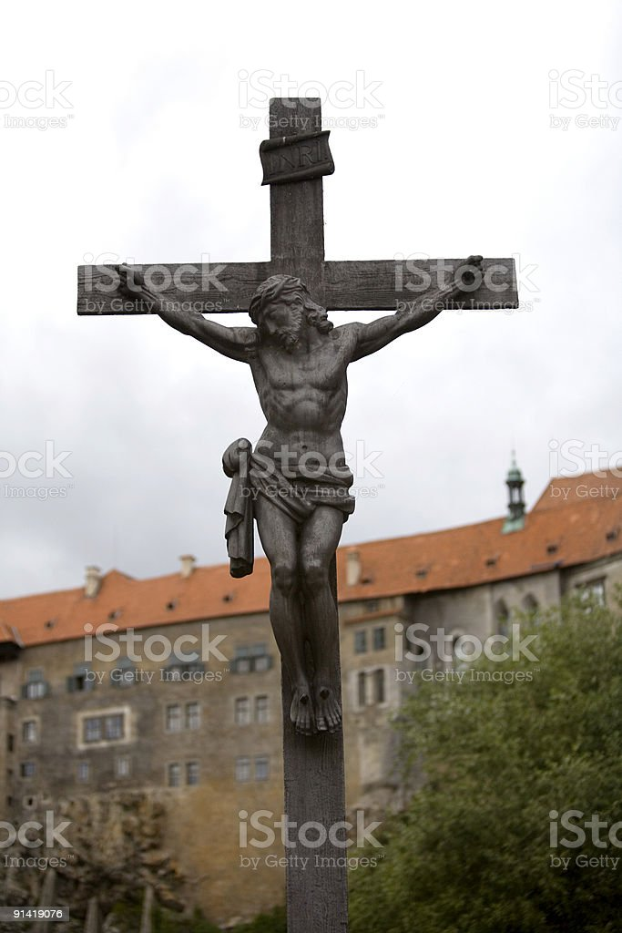 Crucifix in Czech Republic stock photo