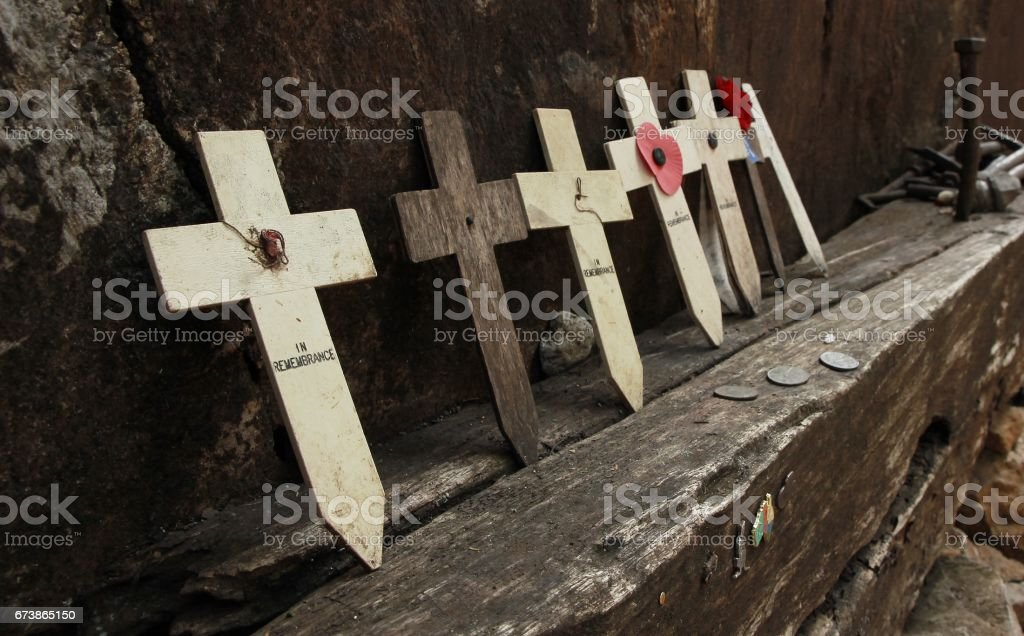 Crucifix in Kanchanaburi Thailand stock photo