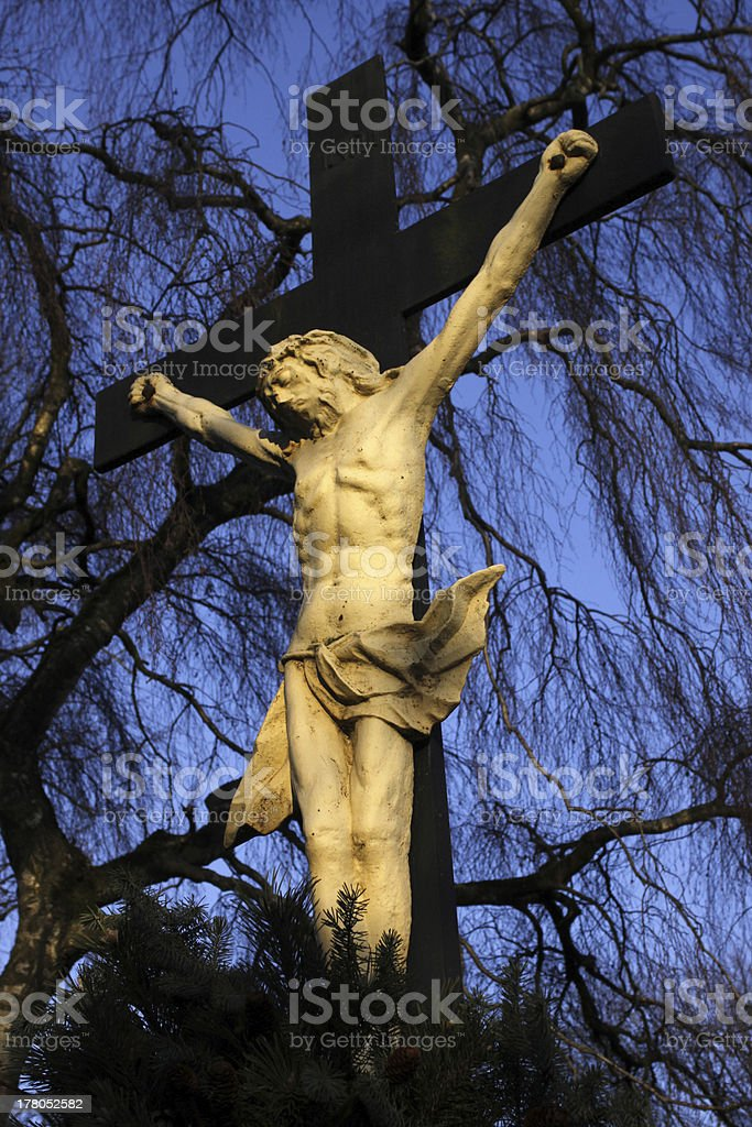 Crucifix in Luegde (Kilianskirche) stock photo