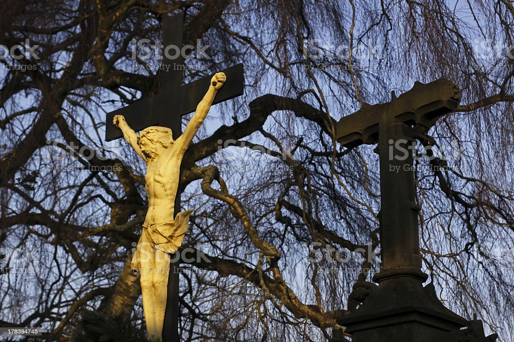 Crucifix in Luegde stock photo