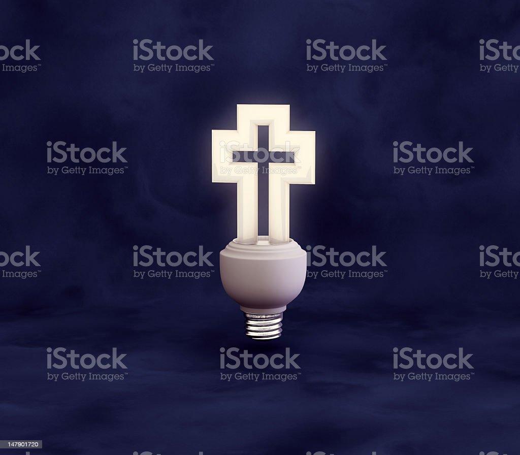 Crucifix Light Bulb royalty-free stock photo