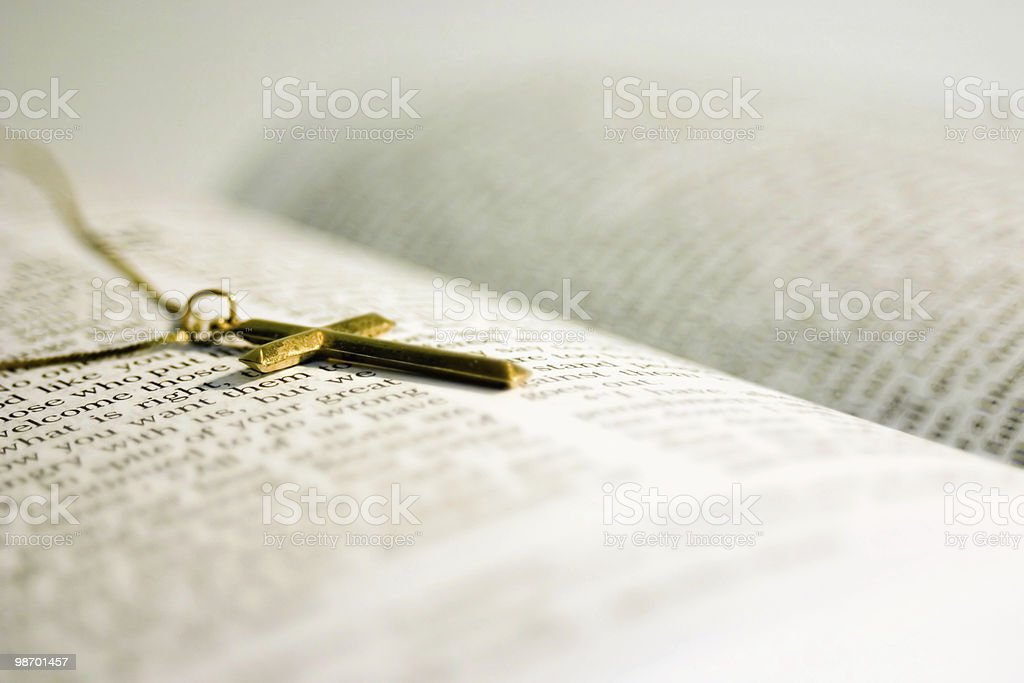 Crucifix on Scripture royalty-free stock photo