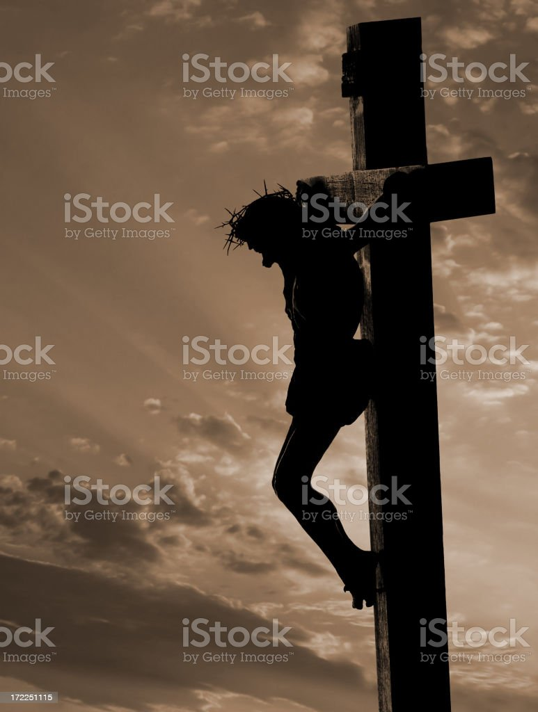 Crucifix (with copyspace) stock photo