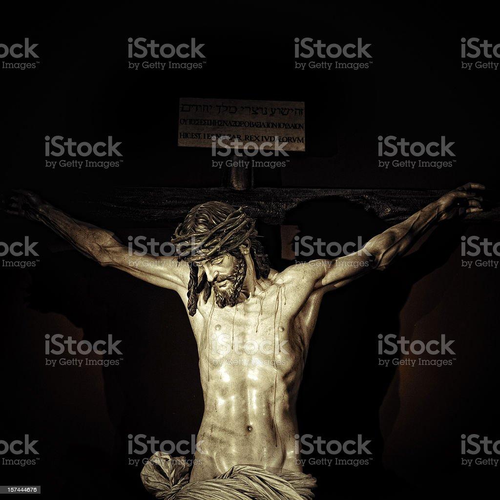 crucifixion stock photo