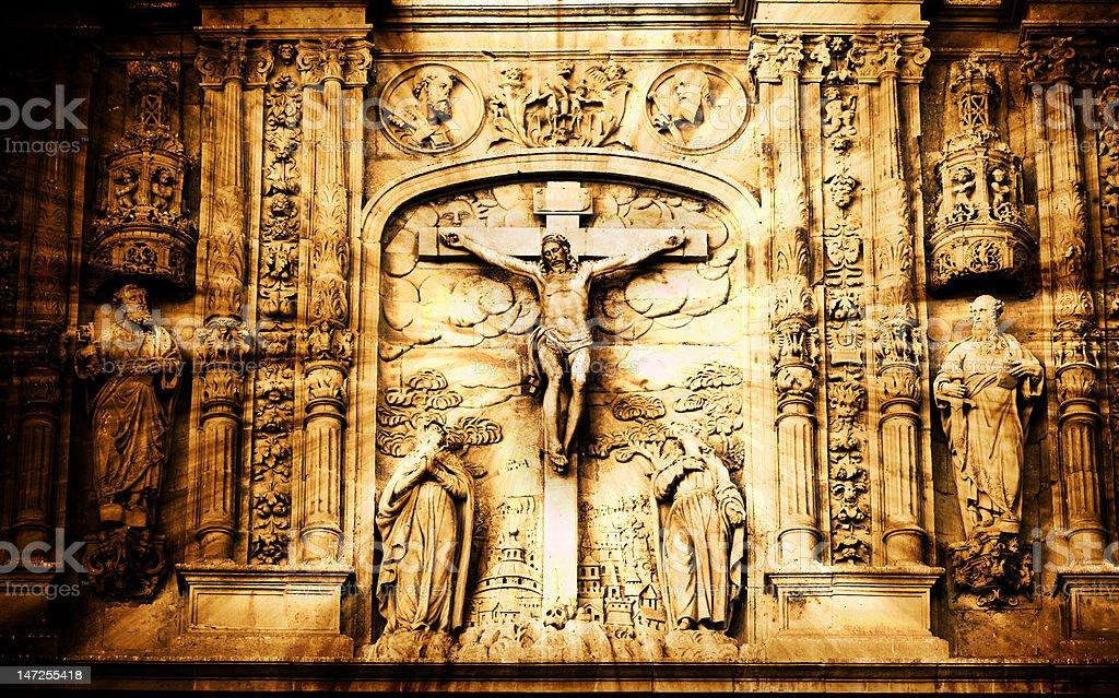 Crucifixion scene royalty-free stock photo
