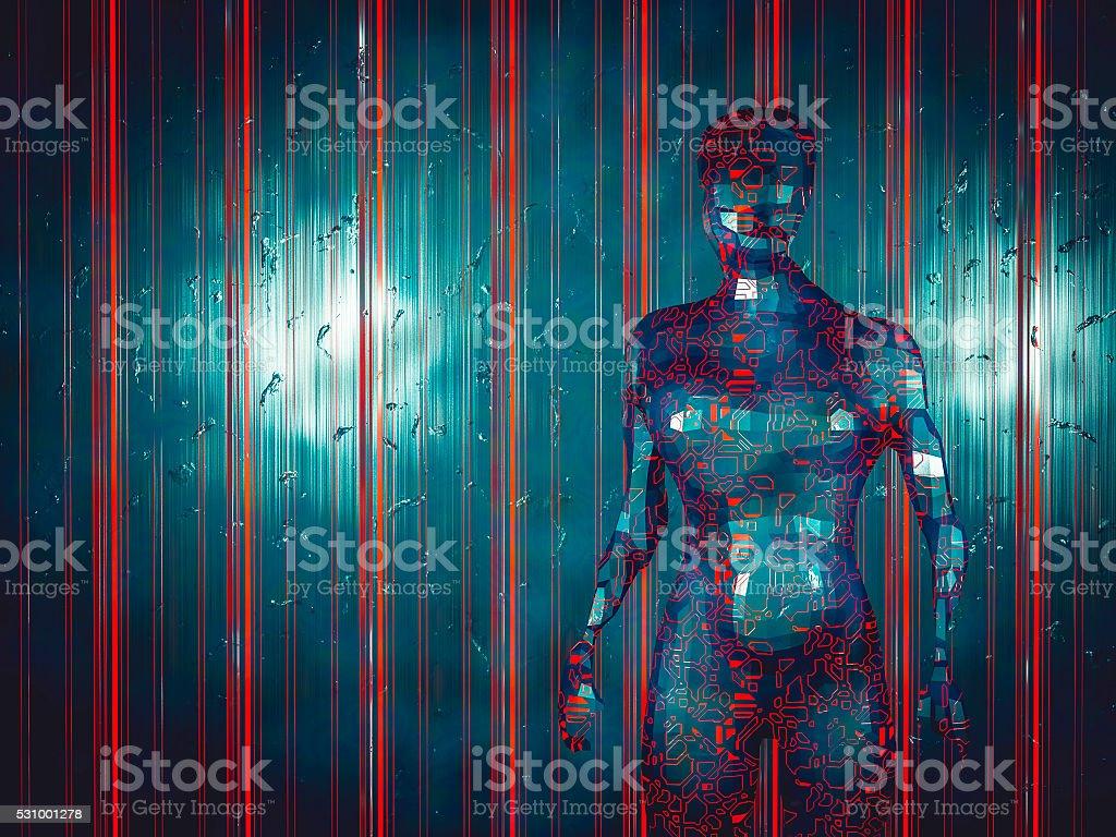 Crude, abstract humanoid shape stock photo