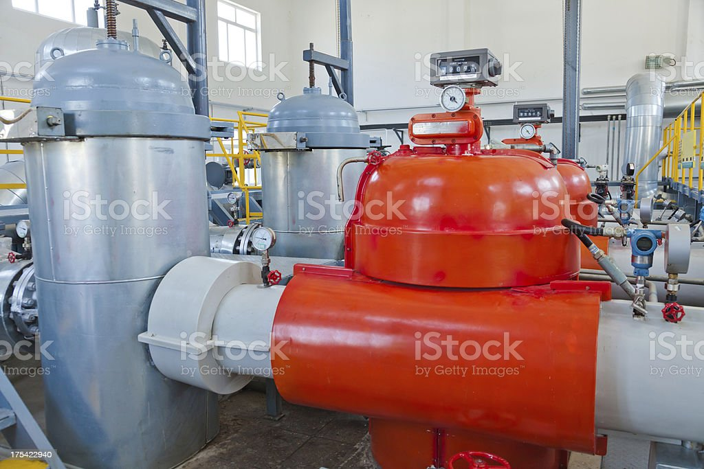 crude oil storage workshop stock photo