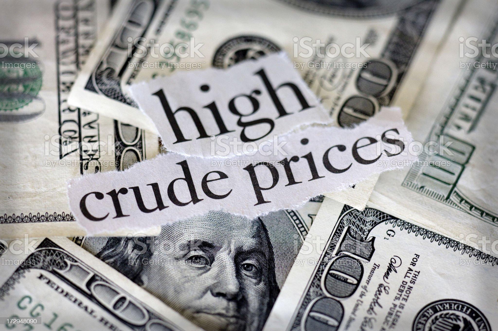 crude prices royalty-free stock photo