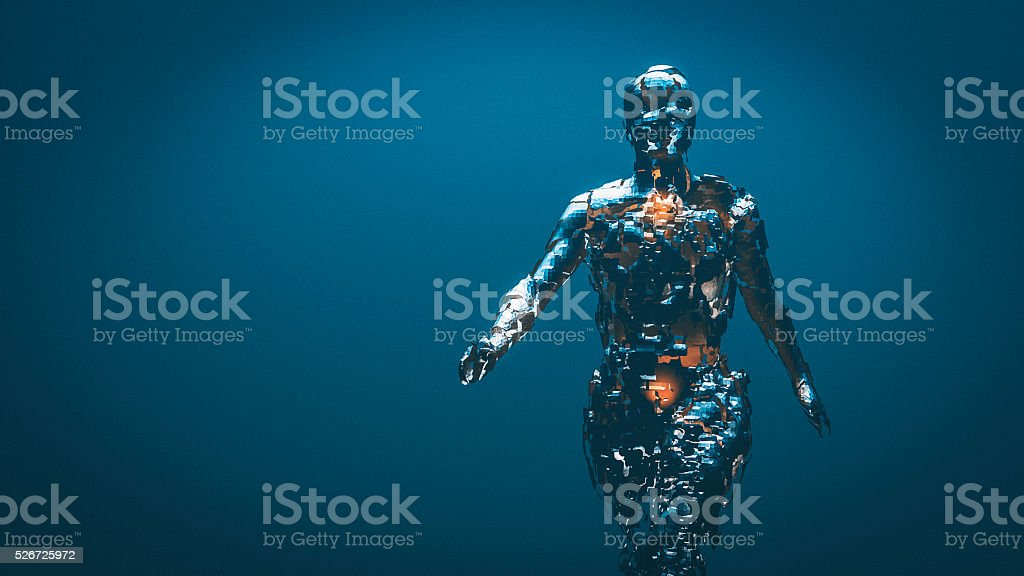 Crudely shaped humanoid figure stock photo