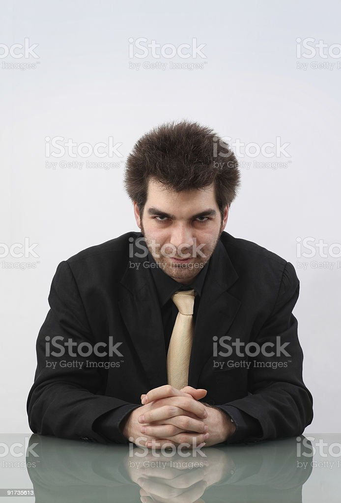 Cruel Businessman royalty-free stock photo