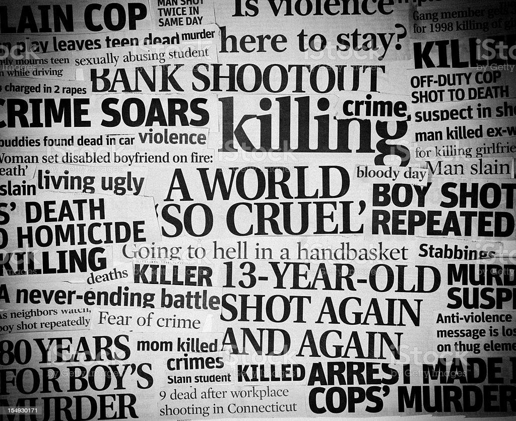 Cruel World headline collage royalty-free stock photo