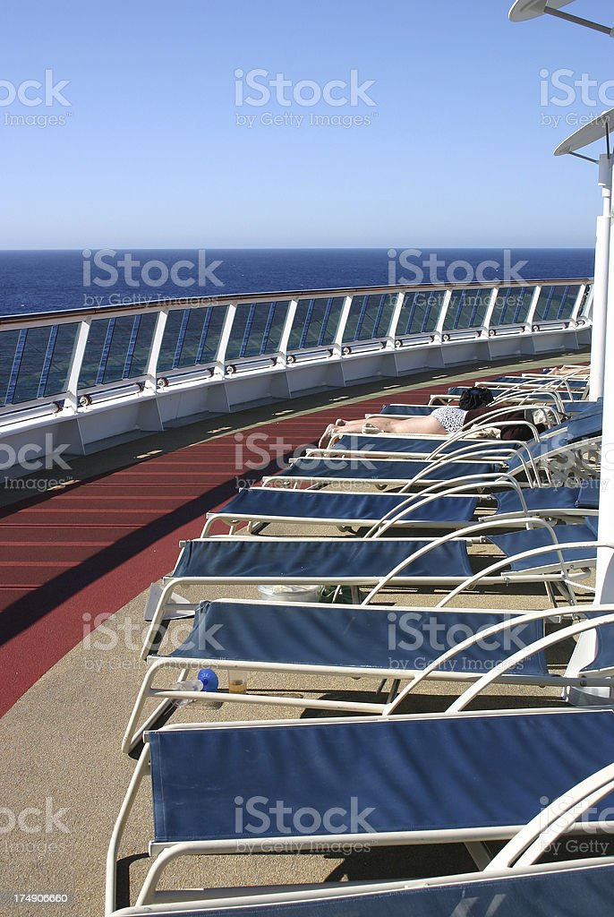 Cruise Deck Chairs royalty-free stock photo