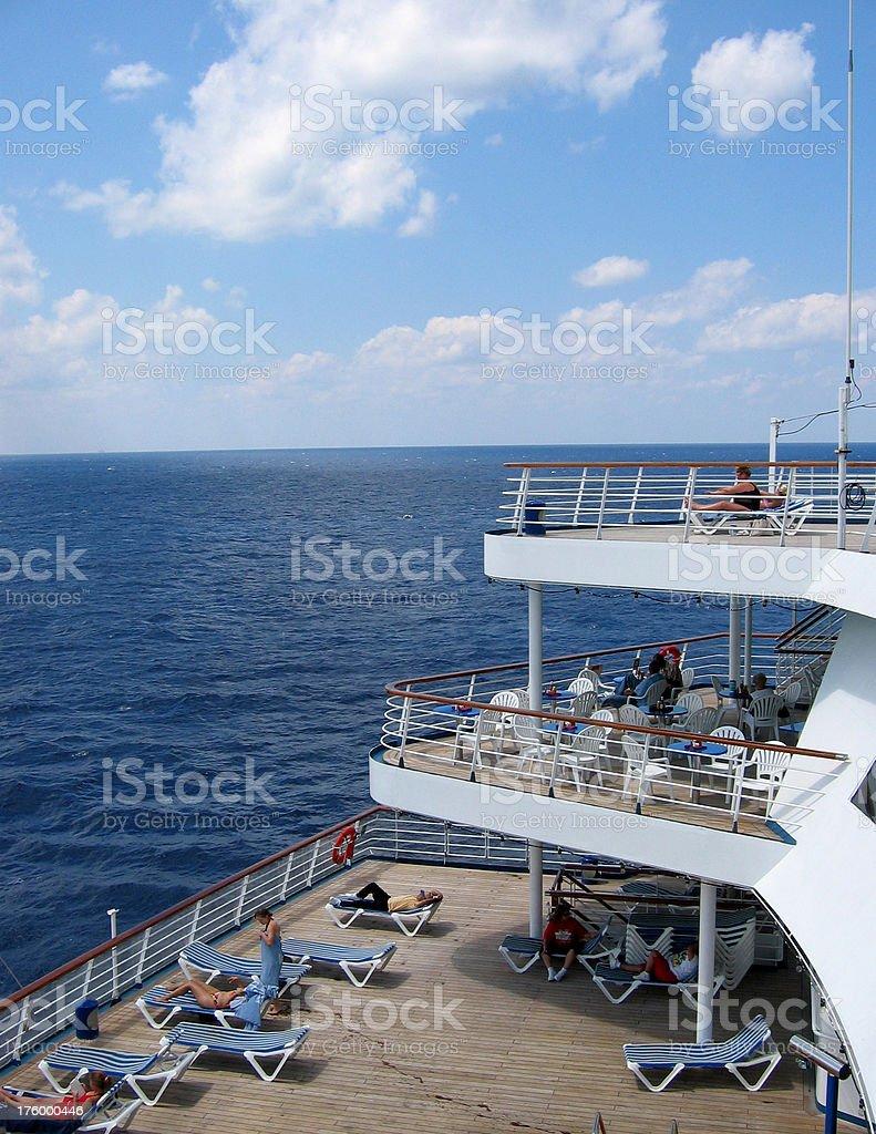 Cruise Decks royalty-free stock photo