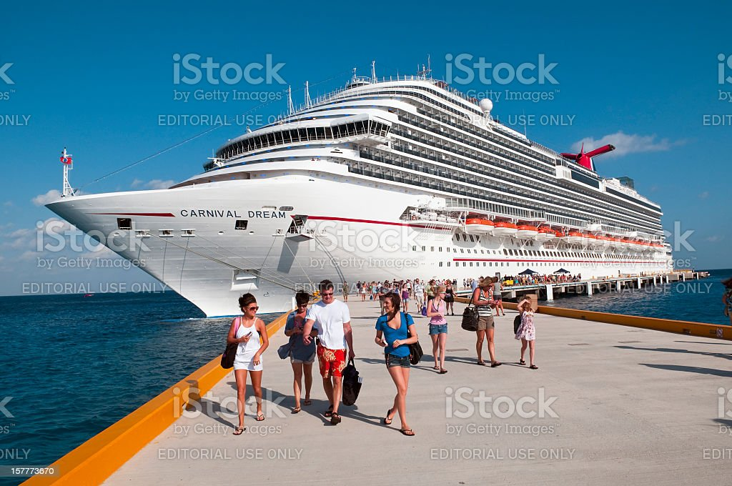 Cruise excursion in Cozumel stock photo