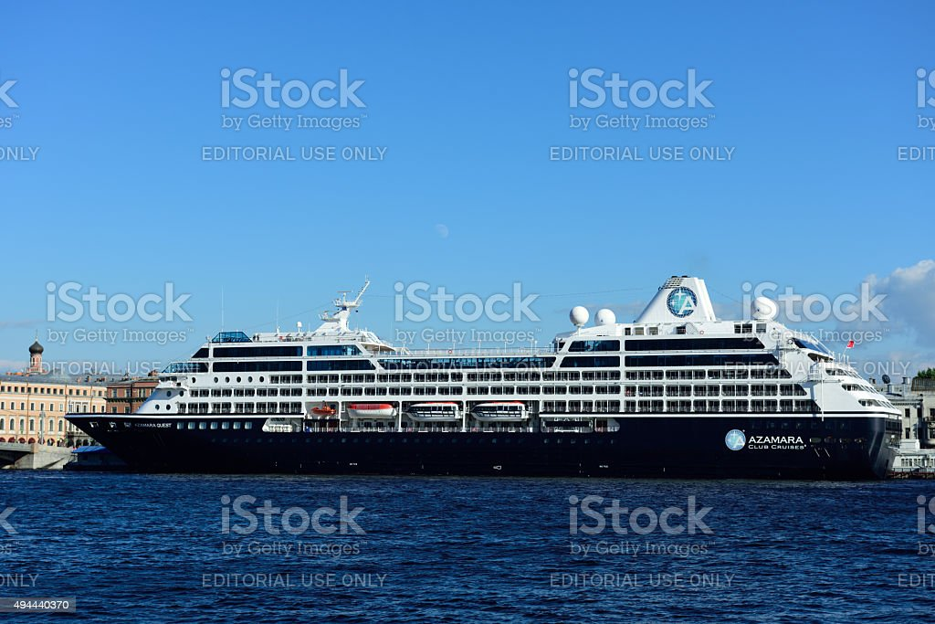 Cruise liner Azamara Quest in St. Petersburg, Russia stock photo