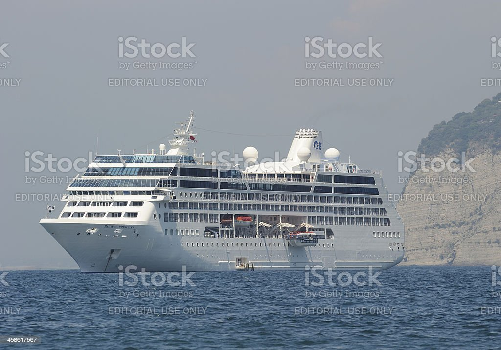 Cruise Liner off Sorrento stock photo