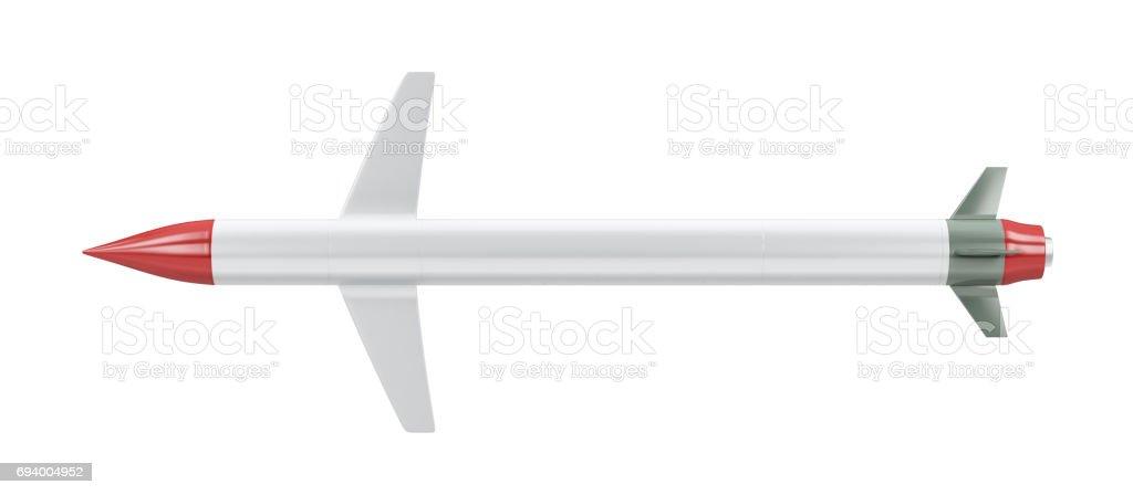Cruise missile on white stock photo