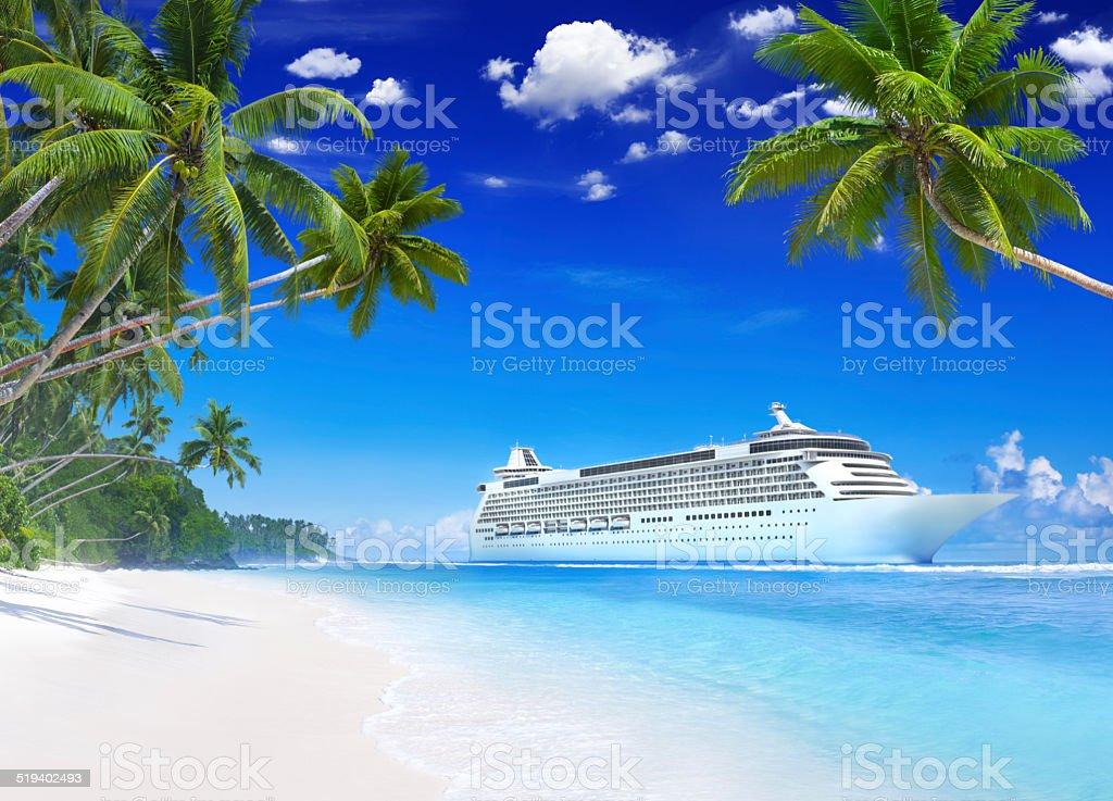 Cruise on the Beach stock photo