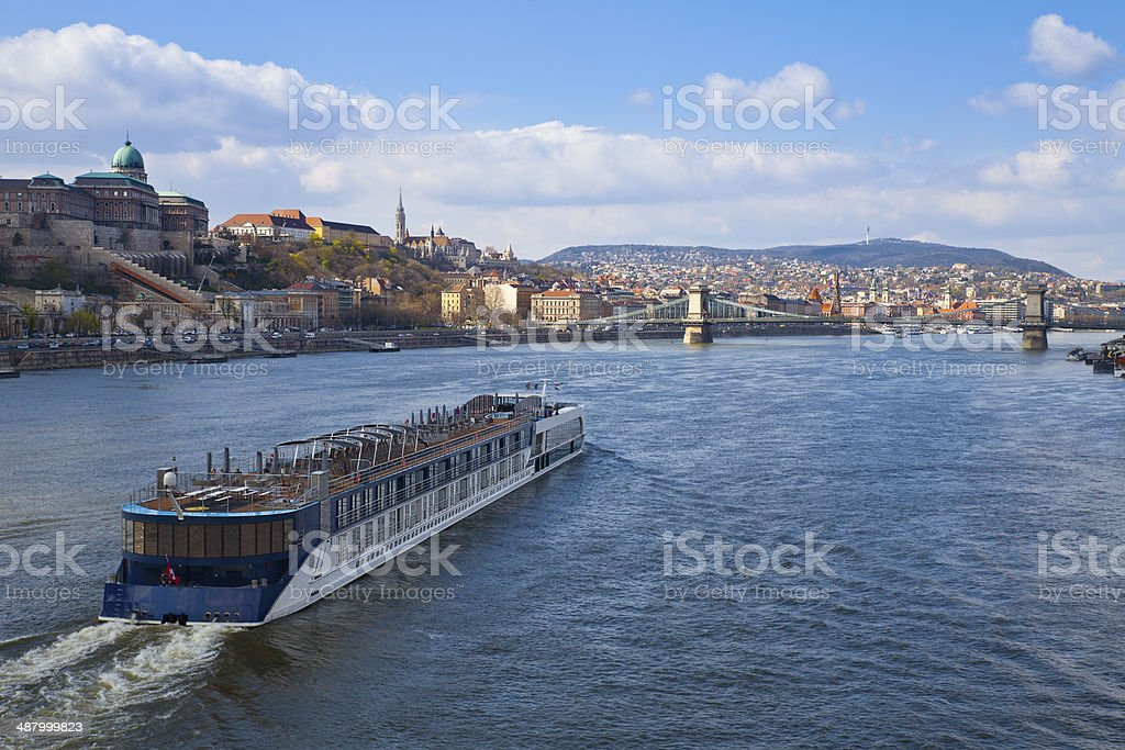 Cruise on the Danube stock photo