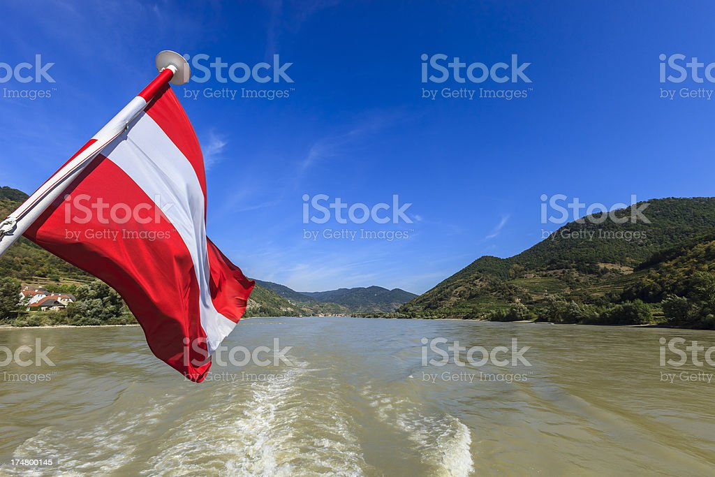 Cruise on the Danube river, Austria royalty-free stock photo
