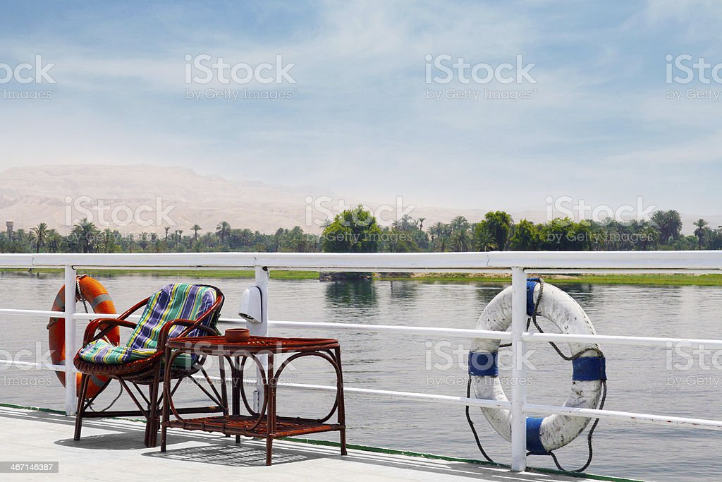 cruise on the Nile belongs to Egypt every trip. stock photo