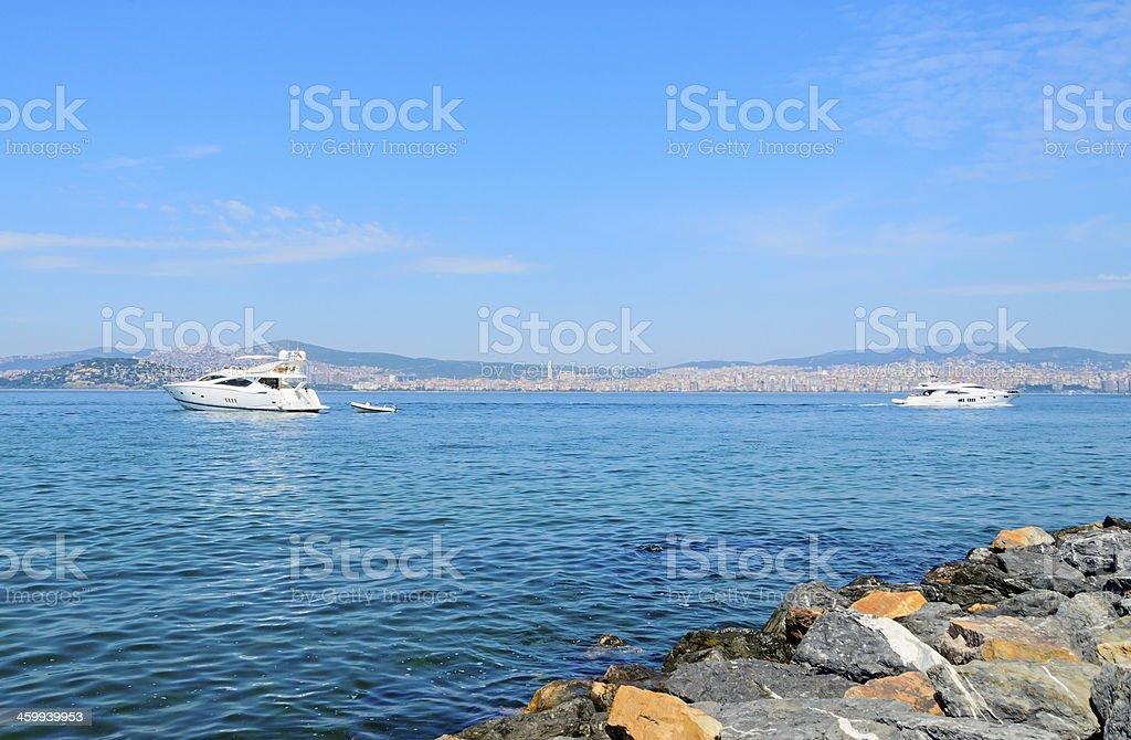 Cruise on the sea of Marmara. royalty-free stock photo