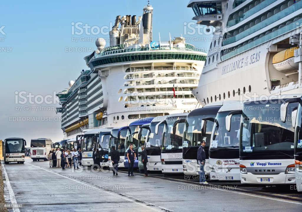 Cruise Port in Rome stock photo