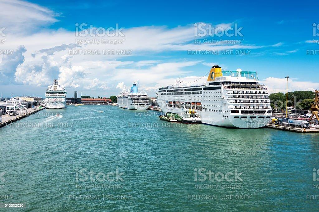 Cruise Port of Venice, Italy stock photo